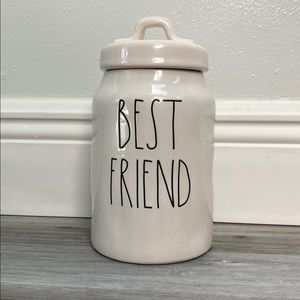 Rae Dunn BEST FRIEND Mini Jar Canister NWOT